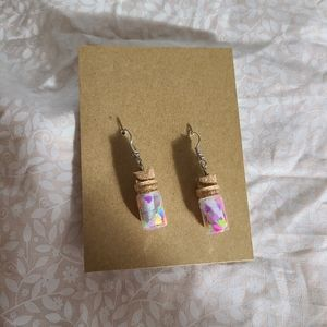 Love Note Bottle Earrings